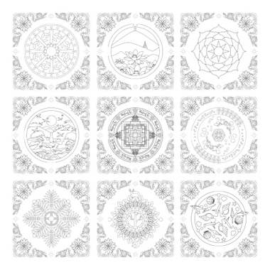 Mandala Healing Time 2 Art Therapy Coloring Book Meditation Volume For Adults And Children 37 Patterns